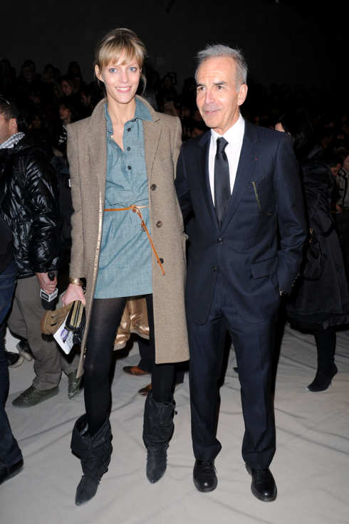 PARIS - MARCH 09: Chloe CEO Ralph Toledano and model Anja Rubik attend the Chloe Ready to Wear show as part of the Paris Womenswear Fashion Week Fall/Winter 2011 at Espace Ephemere Tuileries on March 9, 2010 in Paris, France.  (Photo by Dominique Charriau/WireImage)