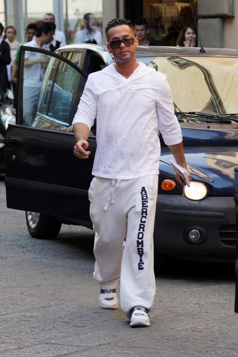 The cast of 'Jersey Shore' out and about in Florence, Italy. <P> Pictured: Mike 'The Situation' Sorrentino <P><B>Ref: SPL277950  140511  </B><BR/> Picture by: Ludwig / Splash News<BR/> </P><P> <B>Splash News and Pictures</B><BR/> Los Angeles:310-821-2666<BR/> New York:212-619-2666<BR/> London:870-934-2666<BR/> photodesk@splashnews.com<BR/> </P>