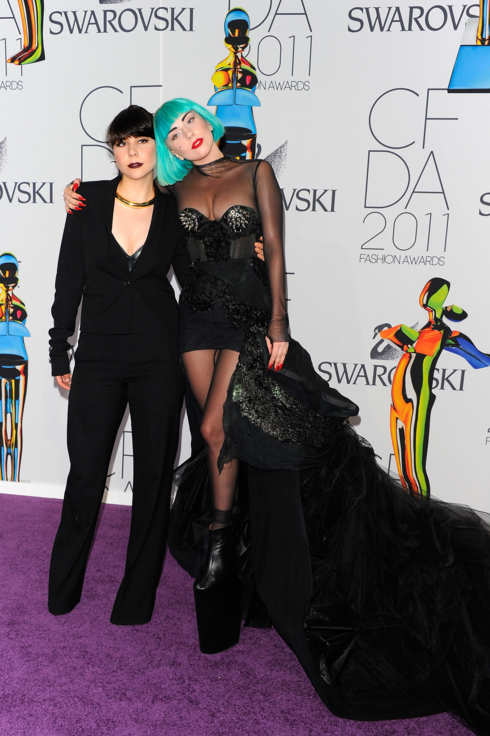NEW YORK, NY - JUNE 06:  Lady Gaga (R) and Natali Germanotta attend the 2011 CFDA Fashion Awards at Alice Tully Hall, Lincoln Center on June 6, 2011 in New York City.  (Photo by Andrew H. Walker/Getty Images)