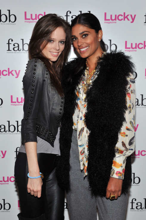 NEW YORK, NY - SEPTEMBER 07:  Model Coco Rocha and designer Rachel Roy attend Lucky Magazine's Fashion and Beauty Blogger (FABB) Conference at Apella Event Space at Alexandria Center on September 7, 2011 in New York City.  (Photo by Henry S. Dziekan III/WireImage for Lucky Magazine)