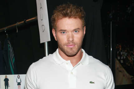 NEW YORK, NY - SEPTEMBER 10:  Actor Kellan Lutz poses backstage at the Lacoste Spring 2012 fashion show during Mercedes-Benz Fashion Week at The Theater at Lincoln Center on September 10, 2011 in New York City.  (Photo by Astrid Stawiarz/Getty Images  for Mercedes-Benz Fashion Week)