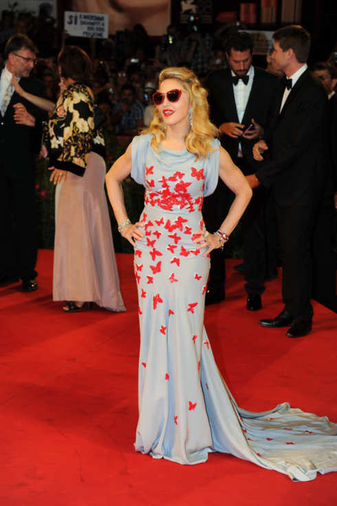 Madonna at the premiere of 'W.E.' in Italy. <P> Pictured: Madonna <P><B>Ref: SPL311202  010911  </B><BR/> Picture by: Splash News<BR/> </P><P> <B>Splash News and Pictures</B><BR/> Los Angeles:310-821-2666<BR/> New York:212-619-2666<BR/> London:870-934-2666<BR/> photodesk@splashnews.com<BR/> </P>