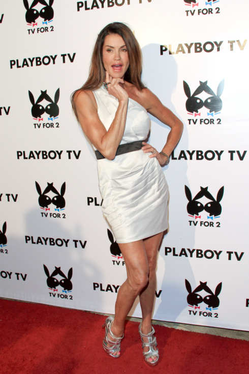 "BEVERLY HILLS, CA - JULY 27:  Reality TV Personality / Model Janice Dickinson arrives at Playboy TV's ""TV For 2"" exclusive TCA event at The Playboy Mansion on July 27, 2011 in Beverly Hills, California.  (Photo by Paul Archuleta/FilmMagic)"