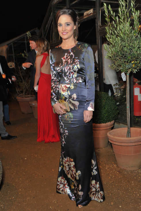 RICHMOND, UNITED KINGDOM - OCTOBER 13: (NO UK MONTHLY MAGAZINES AND THEIR WEBSITES) Pippa Middleton attends the autumn dinner and All Saints party in aid for Too Many Women, supporting Breakthrough Breast Cancer at Petersham Nurseries on October 13, 2011 in Richmond, England. (Photo by Nick Harvey/WireImage)