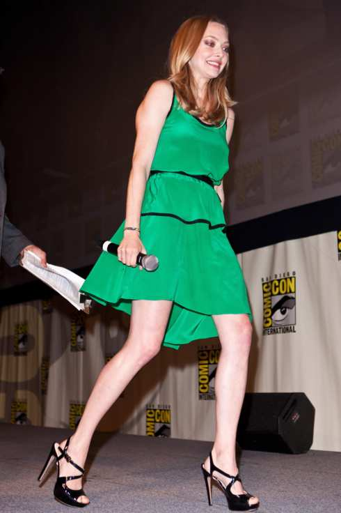 Actress Amanda Seyfried attends the 20th Century Fox panel at 2011 Comic-Con International Day 1 at San Diego Convention Center on July 21, 2011 in San Diego, California.
