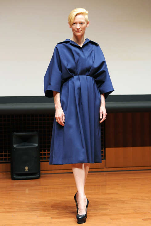 "TOKYO, JAPAN - OCTOBER 25:  Actress Tilda Swinton attends the ""Io Sono L'amore"" (I Am Love) special screening at Italian Cultural Institute Center on October 25, 2011 in Tokyo, Japan. The film will open on December 23 in Japan.  (Photo by Jun Sato/WireImage)"