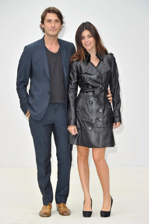 Robert Konjic and Julia Restoin Roitfeld attend the Burberry Spring Summer 2012 Womenswear Show at Kensington Gardens on September 19, 2011 in London, England.  (Photo by Gareth Cattermole/Getty Images for Burberry)