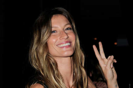 Gisele Bundchen attends the Givenchy aftershow party at L'Arc on October 2, 2011 in Paris, France.
