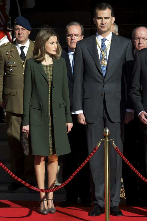 Princess Letizia of Spain and Prince Felipe of Spain.