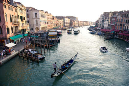 LONDON, ENGLAND - SEPTEMBER 09:  General View from the Ponte De Rialto over the Grand Canal on September 9, 2011 in Venice, Italy. (Photo by Ian Gavan/Getty Images)
