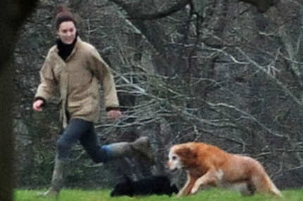 Kate Middleton relaxed at Kate Middleton's parents house before the New Year's Eve party thrown by sister Pippa Middleton in Bucklebury, England on December 31st, 2011.