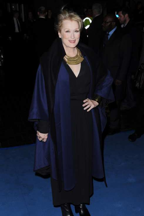 Meryl Streep attends the European Premiere of The Iron Lady at BFI Southbank on January 4, 2012 in London, England.