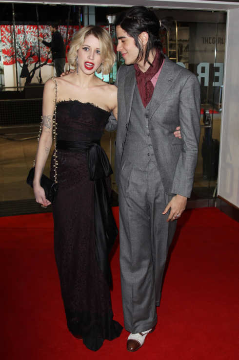 Peaches Geldof and Thomas Cohen attend the world premiere of The Girl With The Dragon Tattoo.