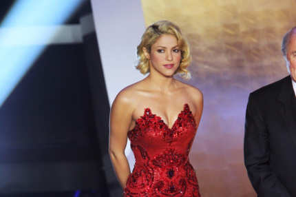 Shakira attends the Golden Ball 2010 FIFA Gala 2010 in Zurich, Switzerland.