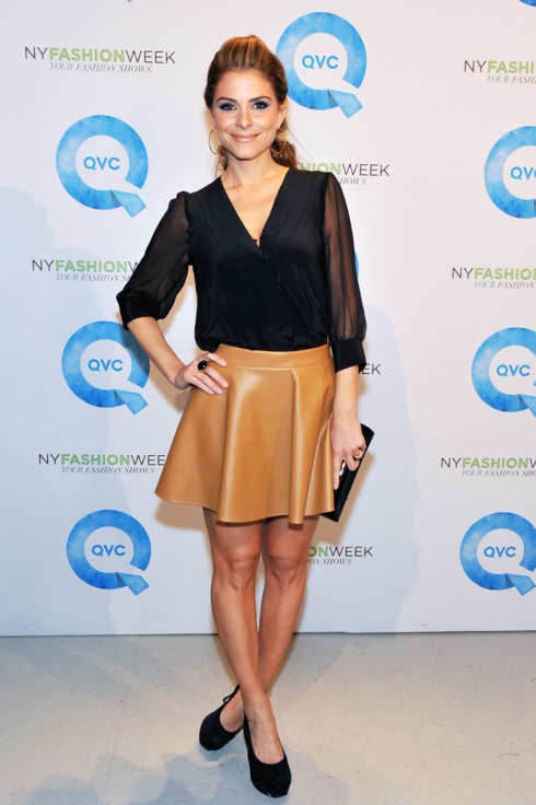 TV Personality Maria Menounos attends QVC's New York Fashion Week runway show at Center 548 on February 8, 2012 in New York City.
