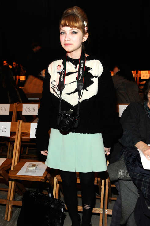 Fashion blogger Tavi Gevinson attends the Boy And Girl By Band Of Outsider Fall 2012 fashion show