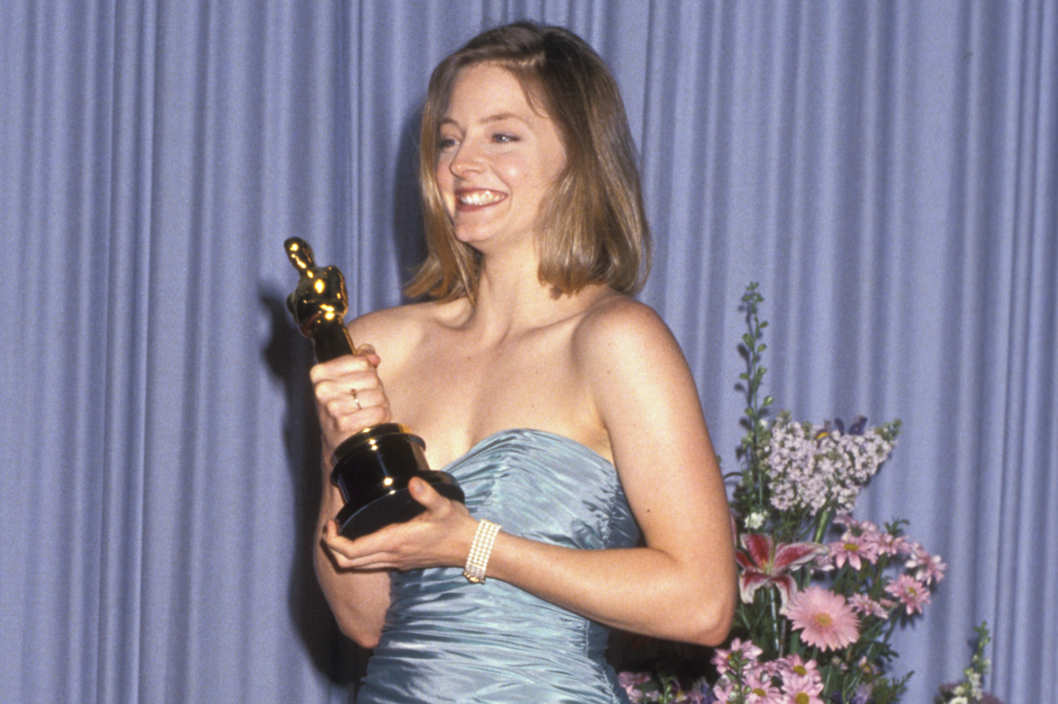 Jodie Foster at the Shrine Auditorium in Los Angeles, California.