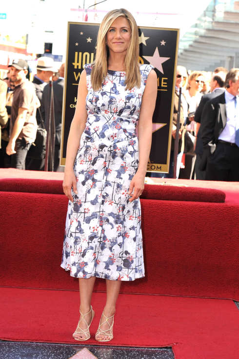 HOLLYWOOD, CA - FEBRUARY 22:  Jennifer Aniston attends the Jennifer Aniston Hollywood Walk Of Fame Induction Ceremony on February 22, 2012 in Hollywood, California.  (Photo by Steve Granitz/WireImage)