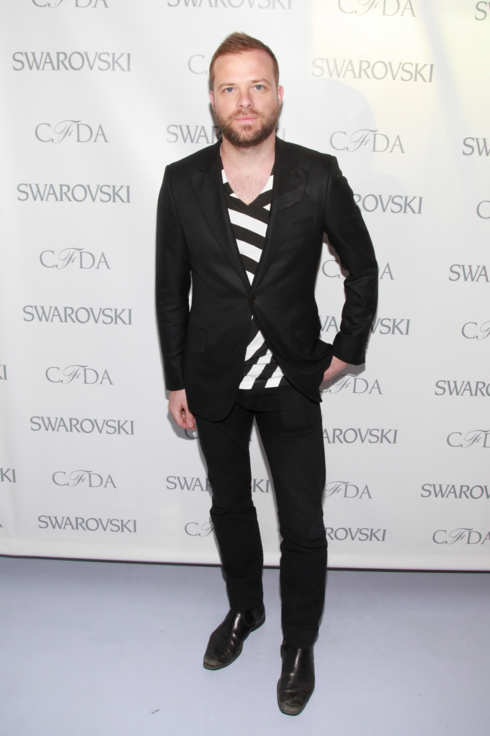 Designer Simon Spurr attends the 2012 CFDA Awards Nominee & Honoree announcement at Diane Von Furstenberg on March 14, 2012 in New York City.