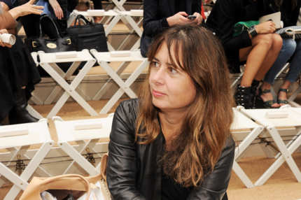 Alexandra Shulman attends at the Burberry Spring Summer 2012 Womenswear Show.