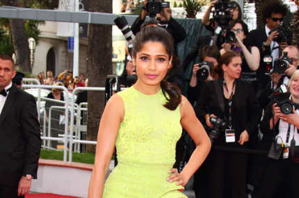 "CANNES, FRANCE - MAY 17 : Freida Pinto attends the ""De Rouille et D'os"" Premiere during the 65th Annual Cannes Film Festival at the Palais des Festivals on May 17, 2012 in Cannes, France. (Photo by Mike Marsland/Wireimage)"