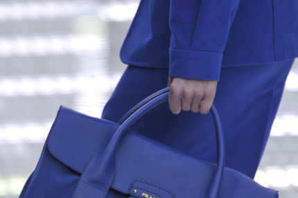 MILAN, ITALY - SEPTEMBER 23:  Accessories bag detail on the runway at the Prada Spring Summer 2011 fashion show during Milan Fashion Week at  on September 23, 2010 in Milan City.  (Photo by Chris Moore/Catwalking/Getty Images)