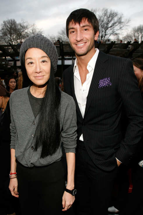 Vera Wang and Evan Lysacek attend the 2011 Skating With the Stars Gala at Wollman Rink - Central Park on April 4, 2011 in New York City.