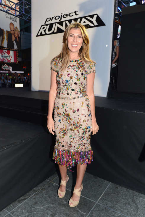 Nina Garcia attends the Project Runway 10th Anniversary NY Times Square Outdoor Runway Event at Times Square on June 15, 2012 in New York City.