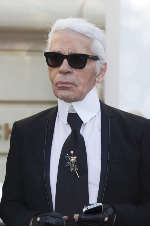 MONACO - JULY 16:  Karl Lagerfeld attends Chanel Jewellery Collection Launch on July 16, 2012 in Monaco, Monaco.  (Photo by Didier Baverel/WireImage)