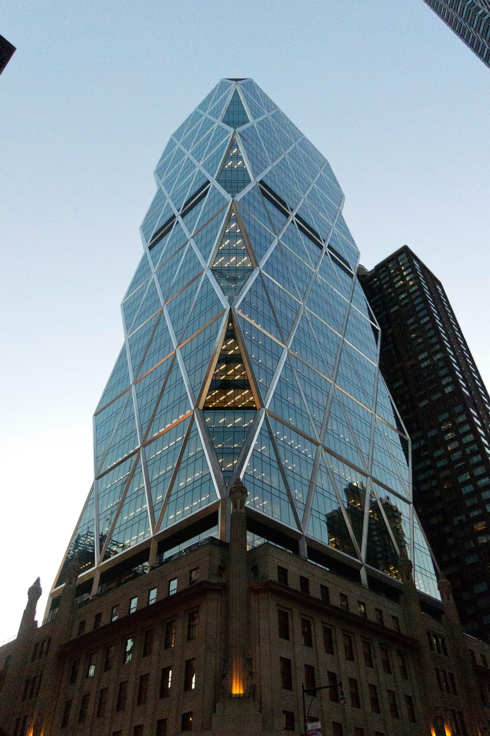 A general view of The Hearst Tower at 300 West 57th Street on March 6, 2012 in New York City.
