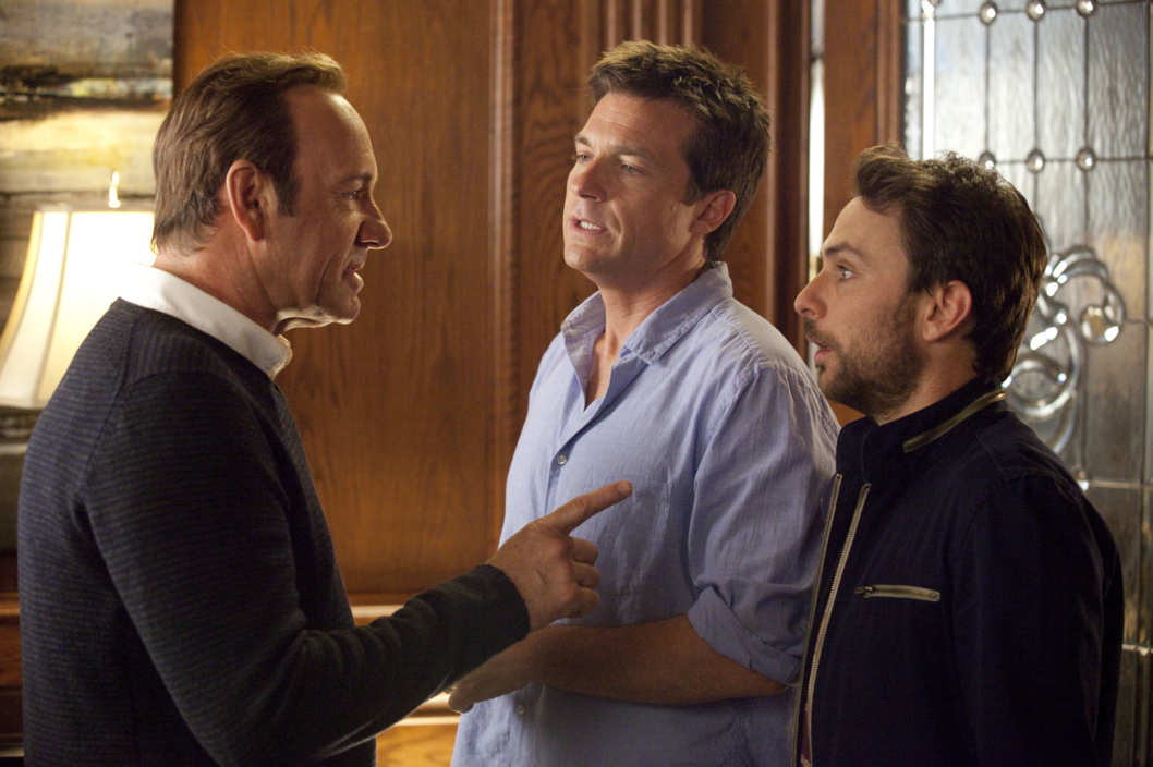 "HB-09339 (L-r) KEVIN SPACEY as Dave Harken, JASON BATEMAN as Nick and CHARLIE DAY as Dale in New Line Cinema's comedy ""HORRIBLE BOSSES,"" a Warner Bros. Pictures release."