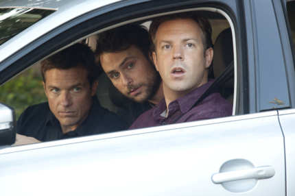"HB-02357 (L-r) JASON BATEMAN as Nick, CHARLIE DAY as Dale and JASON SUDEIKIS as Kurt in New Line Cinema's comedy ""HORRIBLE BOSSES,"" a Warner Bros. Pictures release."
