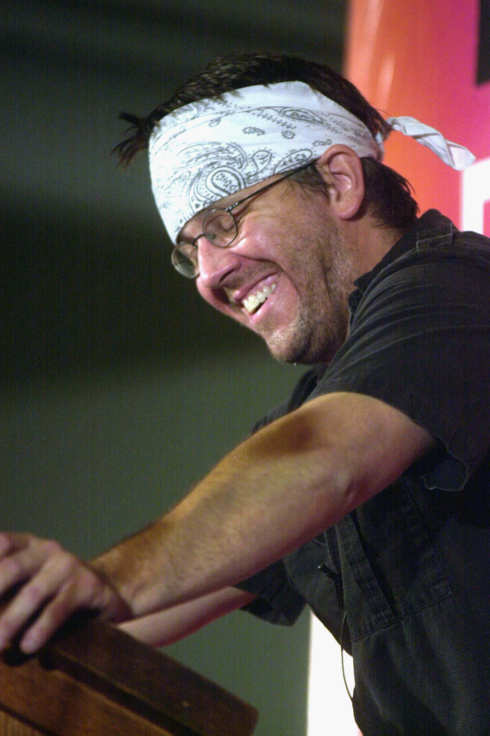 NEW YORK - SEPTEMBER 27:  Author David Foster Wallace reads selections of his writing during the New Yorker Magazine Festival in New York September 27, 2002. (Photo by Keith Bedford/Getty Images)
