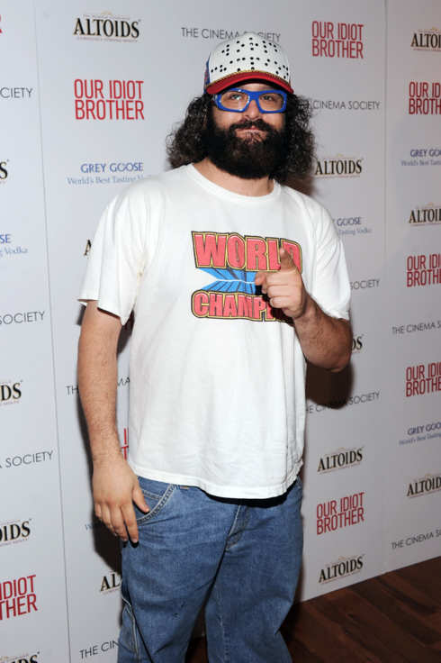 "NEW YORK, NY - AUGUST 22:  Comedian Judah Friedlander attends The Cinema Society & Altoids screening of The Weinstein Company's ""Our Idiot Brother"" at 1 MiMA Tower on August 22, 2011 in New York City.  (Photo by Jamie McCarthy/Getty Images)"
