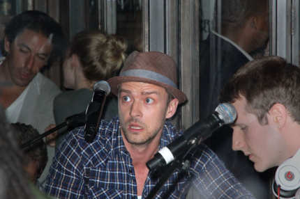 Justin Timberlake plays guitar at Southern Hospitality for guests, Kim Kardashian and Kris Humphries in NYC. <P> Pictured: Justin Timberlake <P> <B>Ref: SPL311009  310811  </B><BR/> Picture by: Jackson Lee / Splash News<BR/> </P><P> <B>Splash News and Pictures</B><BR/> Los Angeles:	310-821-2666<BR/> New York:	212-619-2666<BR/> London:	870-934-2666<BR/> photodesk@splashnews.com<BR/> </P>