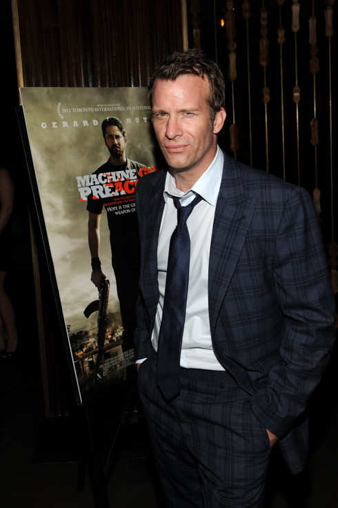 "NEW YORK, NY - SEPTEMBER 13:  Actor Thomas Jane at the Diesel Black Gold Hosted Special Screening of Relativity Media's ""Machine Gun Preacher"" After Party at The Royalton Hotel on September 13, 2011 in New York City.  (Photo by Larry Busacca/Getty Images for Relativity Media)"