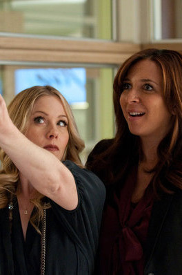 "UP ALL NIGHT -- ""Pilot"" -- Pictured: (l-r) Christina Applegate as Reagan, Maya Rudolph as Ava -- Photo by: Colleen Hayes/NBC"
