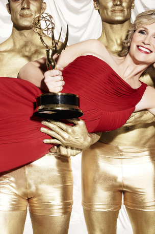 Jane Lynch hosts the 63RD PRIMETIME EMMY AWARDS, airing live in all time zones, Sunday, Sept. 18 (8:00 PM ET live/5:00 PM PT live) on FOX. Photographed in Los Angeles on June 24, 2011. Cr: Williams & Hirakawa/FOX
