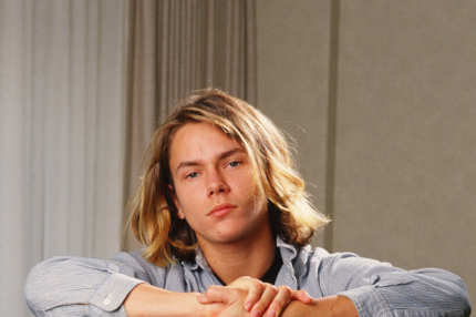"LOS ANGELES, CA - 1988:  Actor River Phoenix, star of ""Stand By Me,"" poses during a 1988 Los Angeles, California, photo portrait session. Phoenix, a rising young film star, tragically died in 1993 outside a Sunset Strip nightclub of a drug overdose. (Photo by George Rose/Getty Images)"