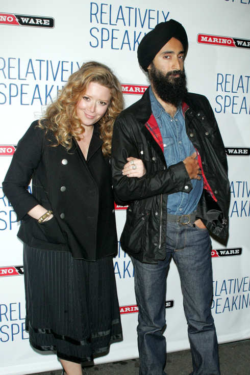 "NEW YORK, NY - OCTOBER 20:  Actress Natasha Lyonne and designer Waris Ahluwalia attend the opening night of ""Relatively Speaking"" at the Brooks Atkinson Theatre on October 20, 2011 in New York City.  (Photo by Jim Spellman/WireImage)"