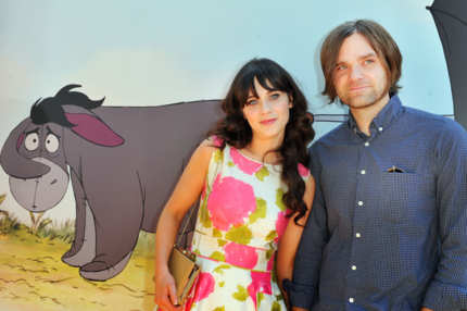 "Actress/singer Zooey Deschanel and musician Ben Gibbard arrive at Walt Disney Pictures presents the premiere of ""Winnie The Pooh"" at Walt Disney Studios on July 10, 2011 in Burbank, California."