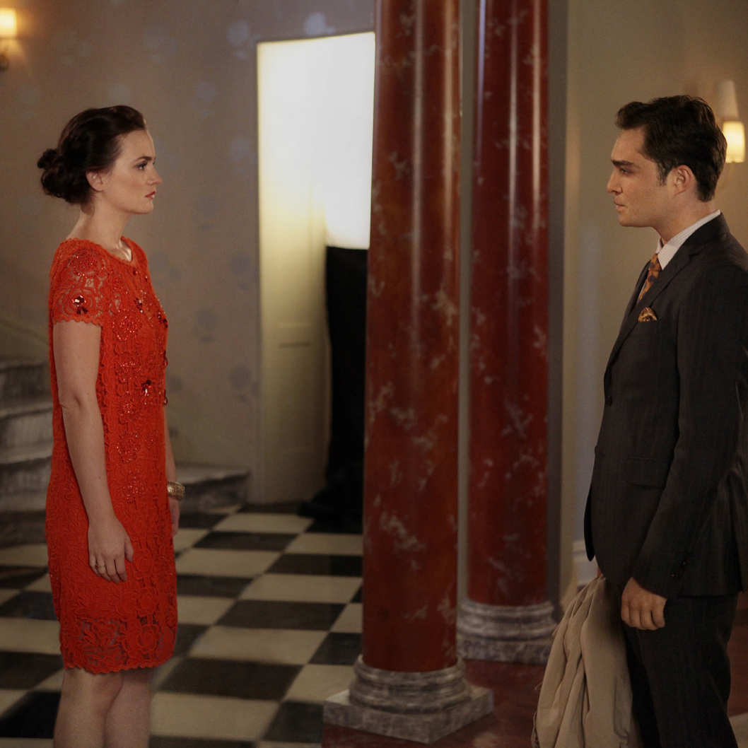 """'I Am Number Nine"" GOSSIP GIRL Pictured (L-R)  Leighton Meester as Blair Waldorf and Ed Westwick as Chuck Bass PHOTO CREDIT: GIOVANNI RUFINO/©2011 The CW Network, LLC. All Rights Reserved"
