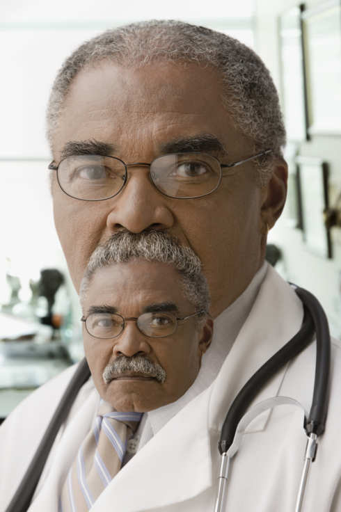 Close up of African doctor