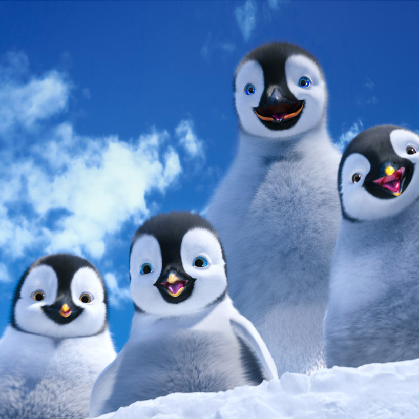 "(L-r) Bo, voiced by MEIBH CAMPBELL; Erik, voiced by AVA ACRES; Mumble, voiced by ELIJAH WOOD; and Atticus, voiced by BENJAMIN ""LIL P-NUT"" FLORES JR., in Warner Bros. Pictures' and Village Roadshow Pictures' animated family comedy adventure ""HAPPY FEET TWO,"" a Warner Bros. Pictures release."