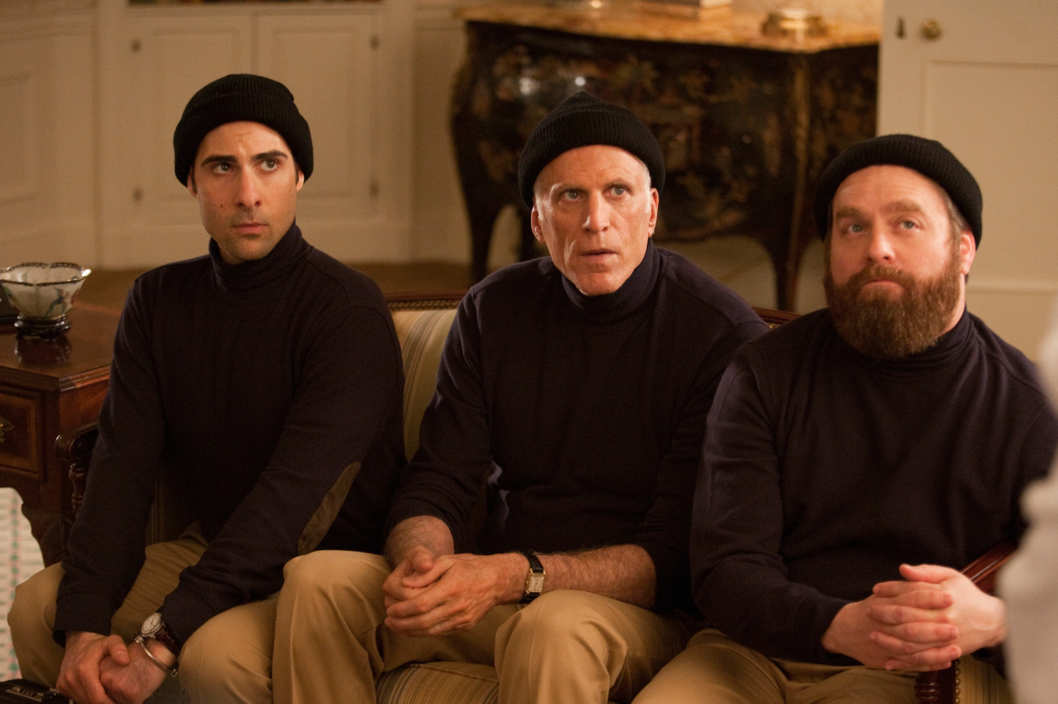 BORED TO DEATH episode 22 (season 3, episode 6): Jason Schwartzman, Ted Danson, Zach Galifianakis . photo: Jessica Miglio
