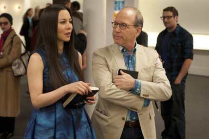 "WORK OF ART: THE NEXT GREAT ARTIST -- Episode 208 ""Sell Out"" -- Pictured: (l-r) China Chow, Bill Powers -- Photo by: David Giesbrecht /Bravo"