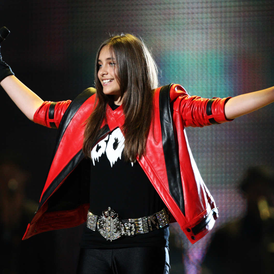 CARDIFF, WALES - OCTOBER 08: Paris Jackson appears onstage at the 'Michael Forever' concert to remember the late Michael Jackson at The Millenium Stadium on October 8, 2011 in Cardiff, United Kingdom.  (Photo by Dave J Hogan/Getty Images)