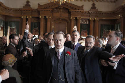 BOARDWALK EMPIRE episode 24 (season 2, episode 12/season finale): David Aaron Baker, Steve Buscemi, Kevin O'Rourke, Anthony Laciura.