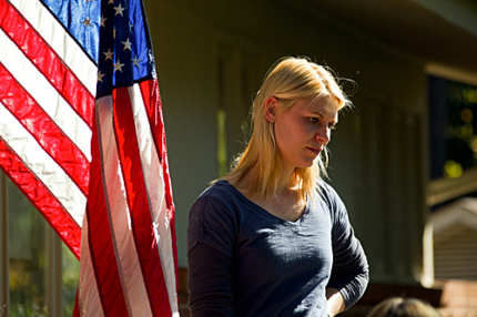 Claire Danes as Carrie Mathison in Homeland (episode 12-season finale).