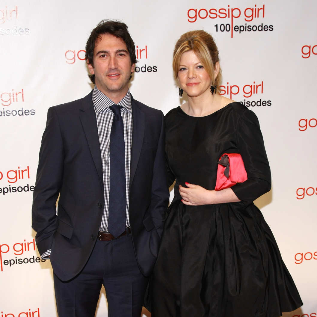 "NEW YORK, NY - NOVEMBER 19:  Executive producers Josh Schwartz (L) and Stephanie Savage attend the ""Gossip Girl"" 100 episode celebration at Cipriani Wall Street on November 19, 2011 in New York City.  (Photo by Neilson Barnard/Getty Images)"